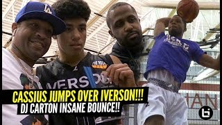 Cassius Stanley Dunks OVER Allen Iverson!! DJ Carton Has RIDICULOUS BOUNCE!!