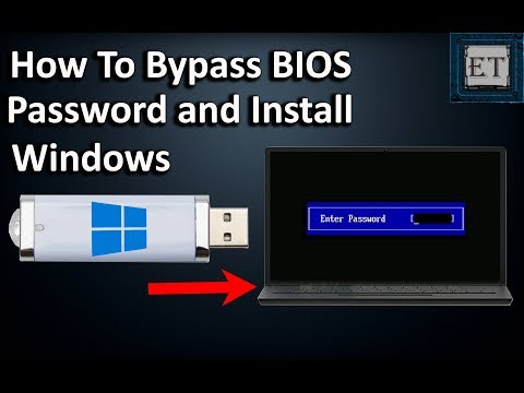 How To BYPASS BIOS/CMOS Password On Laptops And Install Windows