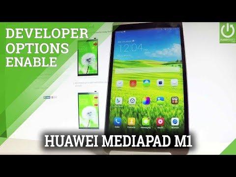 Developer Options in HUAWEI MediaPad M1 8.0 - USB Debugging