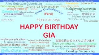 Gia   Languages Idiomas - Happy Birthday