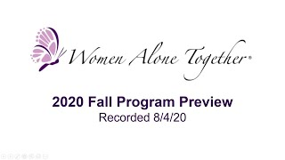 2020 - WAT Fall Programming Preview