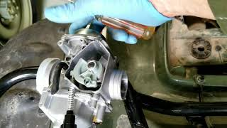 Fuel Leak Fixed on Honda 4 Wheeler ATV; Carburetor Replacement: Removal and Installation
