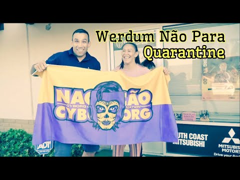 Bellator Cris Cyborg  visited by UFC 249 Fabricio Werdum at the Cris Cyborg Gym in HB CA