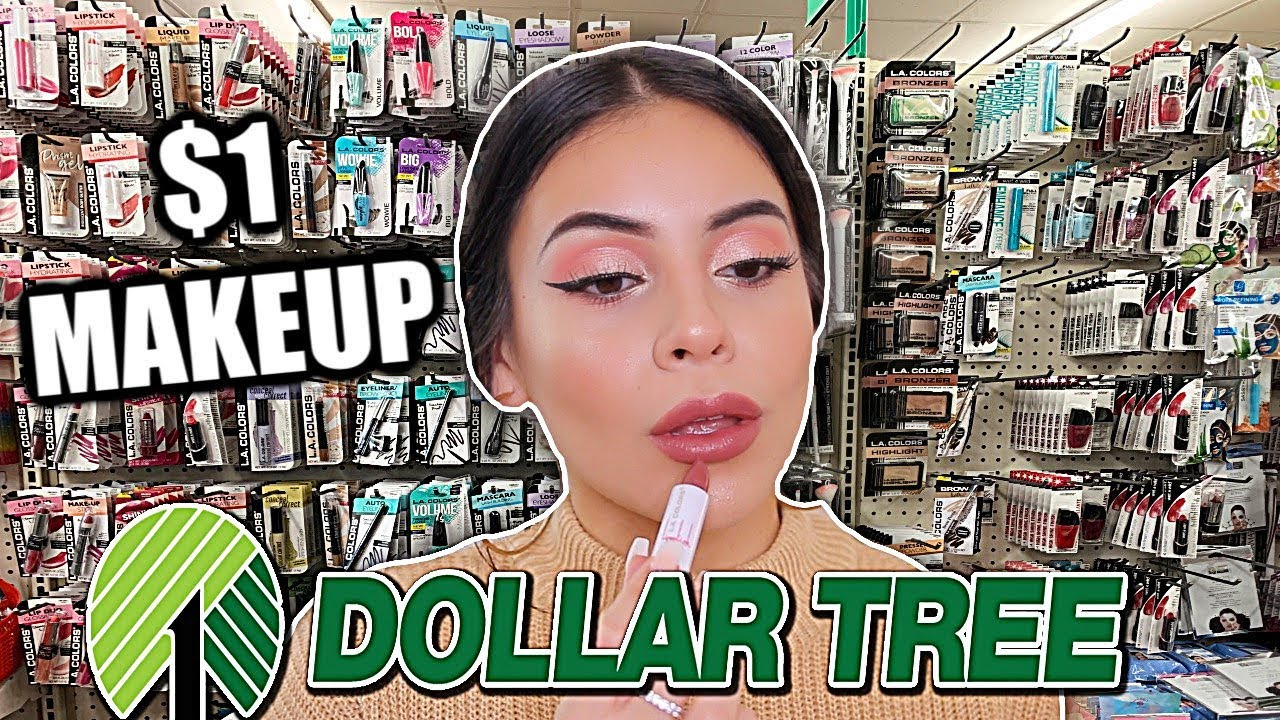 FULL FACE OF DOLLAR TREE MAKEUP: $1 MAKEUP DEALS