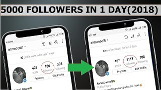 How to Increase INSTAGRAM Followers (2018)| 5000 Followers On INSTAGRAM In 1 Day.