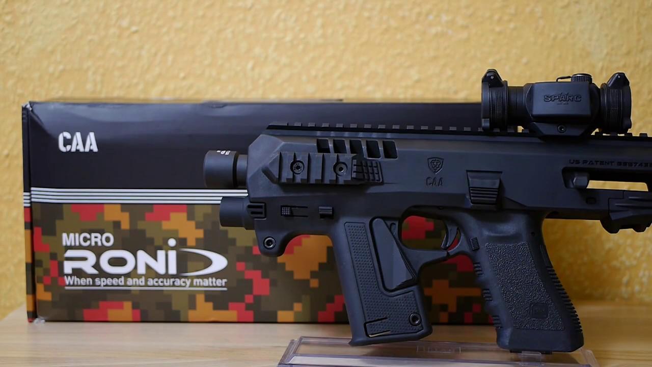 CAA Micro Roni - Glock SBR Pistol To Carbine Conversion Kit - YouTube