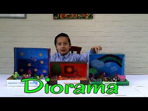 Diorama | How to make a diorama | Different Diorama theme