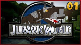 """Minecraft Jurassic World - Jurassic Park - DINOSAUR ATTACK!! - """"Jurassic Craft Roleplay"""""""