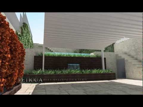 rendering autocad progetto giardino garden peticca youtube