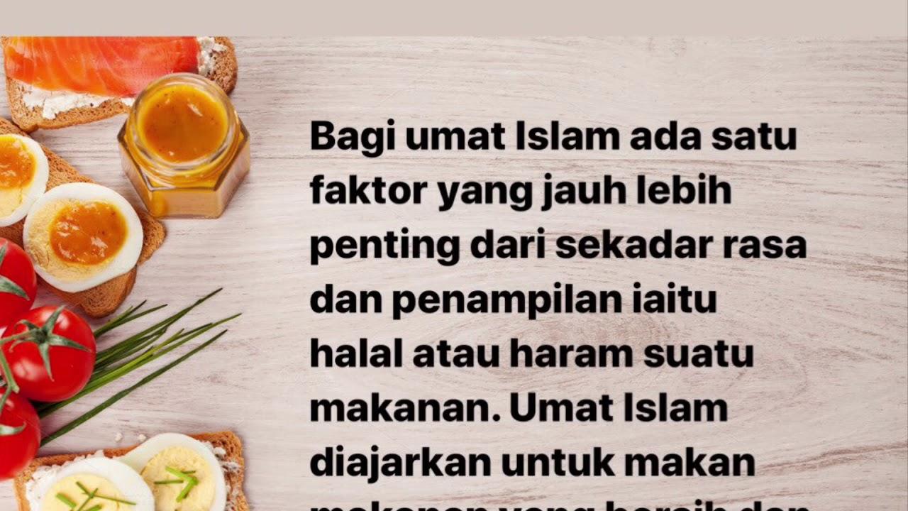 Makanan Halal Dan Haram Menurut Islam Youtube