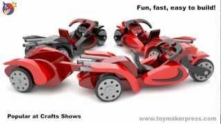 Wood Toy Plans - Shock Hog Motorcycle & Trailer
