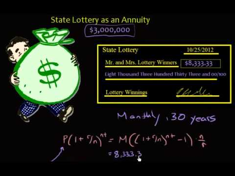 Annuity - Present Value Of State Lottery Winnings