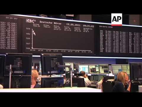 Reaction at Frankfurt Stock Exchange to Strauss-Kahn resignation