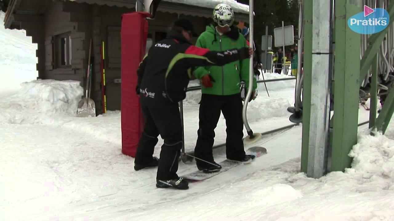 photo comment prendre teleski snowboard
