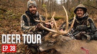 PUBLIC LAND BUCK RIGHT OFF THE ROAD! Aaron's Iowa Buck - DEER TOUR E38
