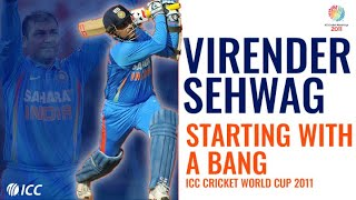 Virender Sehwag: Five matches, five first-ball boundaries | Cricket World Cup 2011