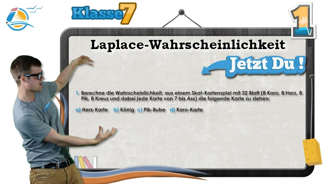 Laplace Wahrscheinlichkeiten    Klasse 7 ☆ Übung 1 - YouTube