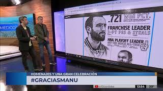 #GraciasManu: el homenaje a Manu Ginóbili