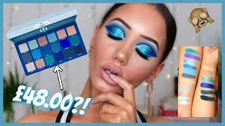 OMG! NEW JEFFREE STAR BLUE BLOOD PALETTE REVIEW, SWATCHES & TUTORIAL | MAKEMEUPMISSA