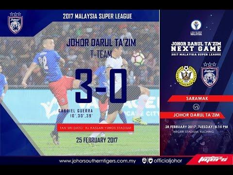 JDT FC  vs T-Team FC (3-0) | Full 2nd Half