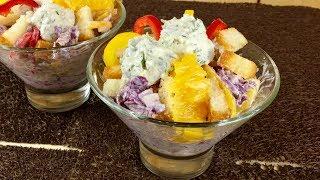 Красочный салат.Сочный и оригинальный!