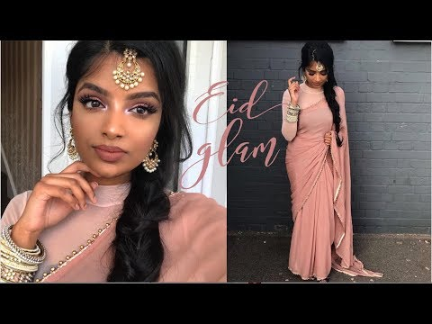Soft Pink Eid Makeup | GRWM Indian/Tamil Reception Wedding | Nivii06