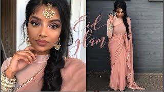 Soft Pink Eid Makeup | GRWM Indian/Tamil Reception Wedding | Nivii06