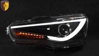 Тюнинг фары Митсубиси Лансер 10 Audi Style/ Headlights Mitsubishi Lancer 10