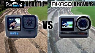 AKASO Brave 8 vs Go Pro Hero 10 - Flagship Action Camera Comparison - is it Brave Enough?