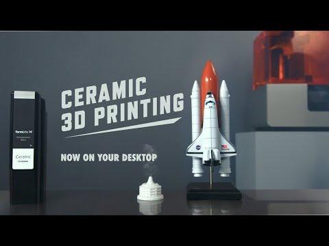 0 - 3D-Druck von Keramik - Formlabs stellt Ceramic Resin vor
