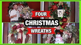 How To Decorate A Wreath For Christmas / (4 Christmas wreath ideas on a small budget 2019)
