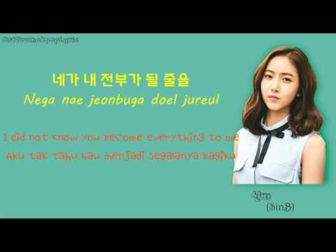 [HAN/ROM/ENG/IND] [LYRIC] 신비 (SinB) – 고백 (Feat. 시진) (Confession) Cinderella and Four Knight OST