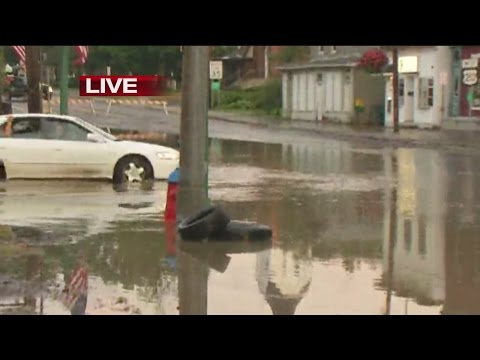 Flooding in parts of Chautauqua County Tuesday morning