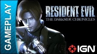 Resident Evil: The Darkside Chronicles - William Birkin Boss Fight Part 1 - Gameplay