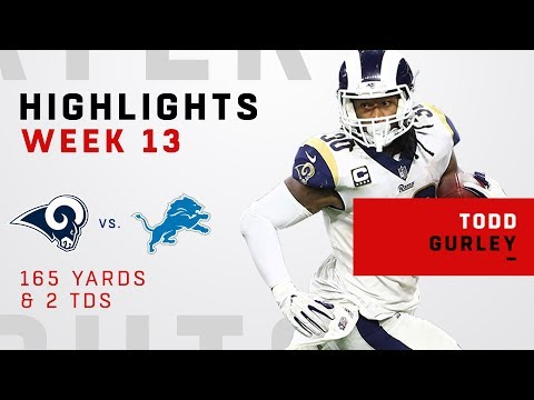Todd Gurley's Double-TD Day vs. Lions