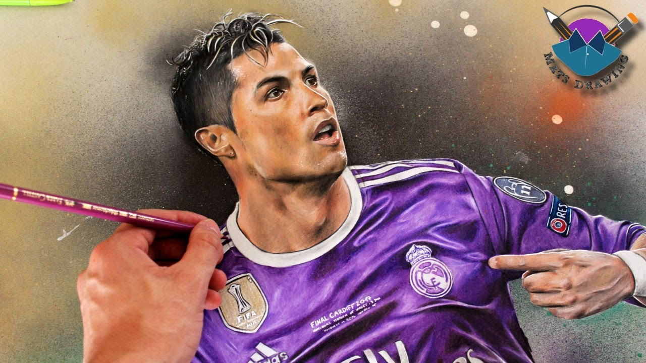 Coloriage Football Fcb.Player In Form 10 Cristiano Ronaldo Speed Drawing Youtube