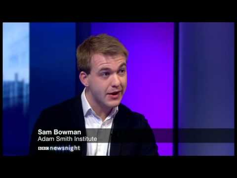 Sam Bowman argues for flexible jobs for the disabled on BBC Newsnight