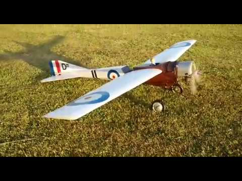 RC plane Bleriot with historical Taifun 2,5cc model diesel engine