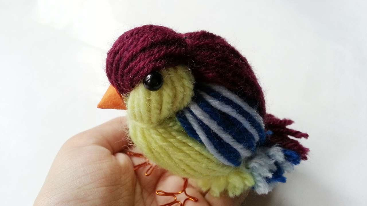 How To Create A Cute Yarn Bird Diy Crafts Tutorial Guidecentral