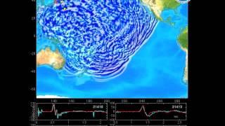 Распространение цунами в Японии