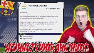 OMG! Werden wir NATIONALTRAINER von INDIEN? - Fifa 18 Karrieremodus Fc Barcelona 13