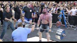 beast arnold schwarzenegger cheers on eddie hall as he sets new deadlift record 462 kg 1018 lbs