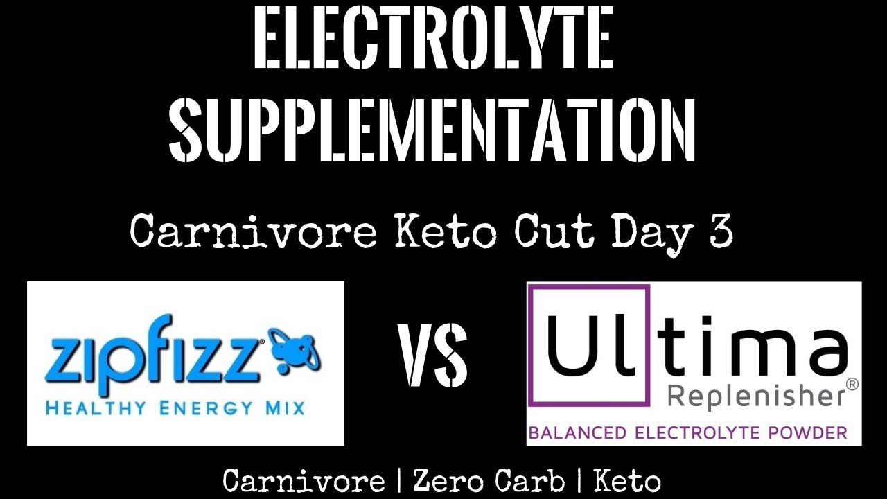 Electrolyte Supplementation | Zipfizz vs  Ultima | Carnivore Keto Cut Day 3