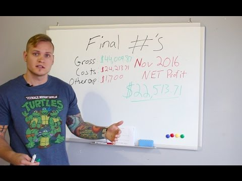 $22,513 NET PROFIT - November 2016 - Ebay/Wholesale (Ryan Roots)