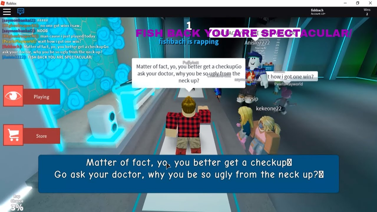 Copy And Paste Troll On Auto Rap Battles Roblox Youtube