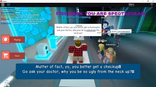 Copy and Paste Trolling on Auto Rap Battles (ROBLOX)