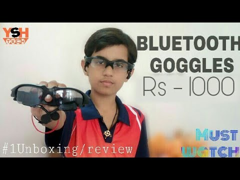 Bluetooth Glasses unboxing & review Rs -/1000 [Must watch] 1#Unboxing&review {HINDI/URDU}
