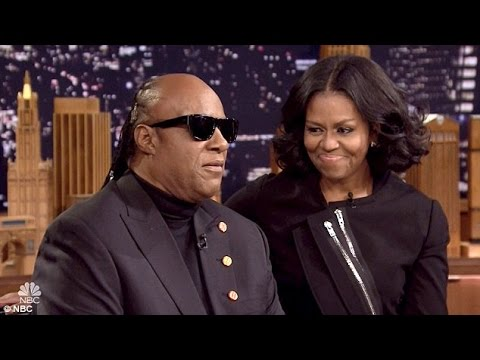 Stevie Wonder floors emotional Michelle Obama with special medley of Isn't She Lovely...
