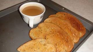 How to make Tea Rusks from Bread (Bread toast for tea time)