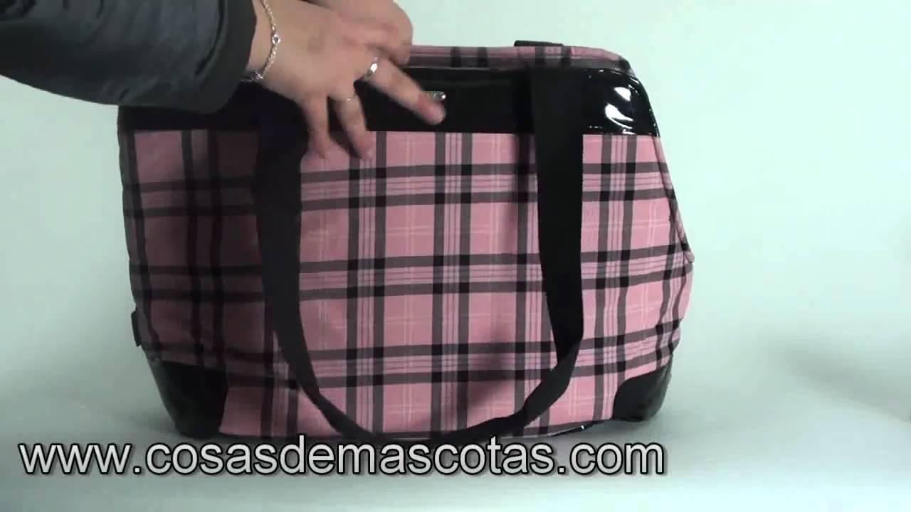 demo Bolso Luxe Mediano Cuadro Rosa